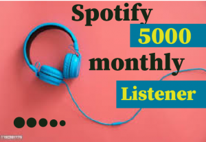 5000+ Spotify monthly listener,Best Quality And Lifetime permanent