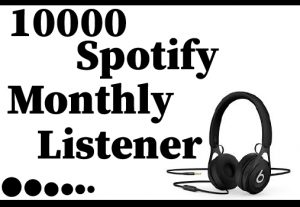 10000 Spotify monthly listener,Best Quality ,Non Drop and 100% Real