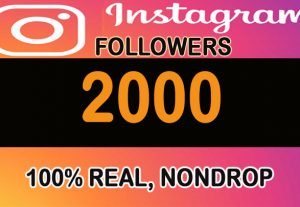 2000+ H.Q 100% real, nondrop Instagram Followers with profile pictures and posts