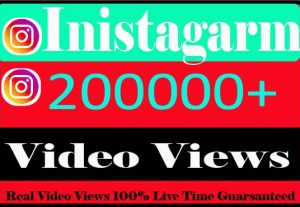 I Will provide 200000+ Instagram Views Real Active User Non Drop And Live Time Guaranteed