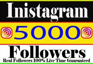 I will Provide 5000+ Instagram followers Real Active User Non Drop Live Time Guaranteed