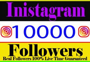 I will Provide 10000+ Instagram Followers Real Active Non Drop Live Time Guaranteed