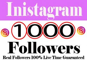 I will provide 1000+ Instagram Followers Real active User Non Drop Live Time Guaranteed