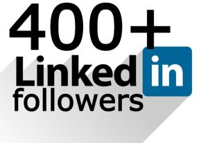 LINKEDIN 400+ followers OR 100+ likes OR 1000+ post views OR 100+ share
