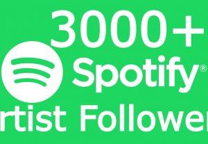 I will send you 3000+ spotify Artist followers
