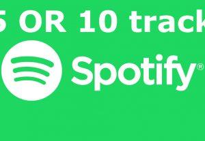 i will add you Spotify playlist plays last 5 OR 10 tracks