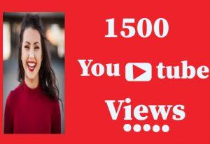 15000+ YouTube views, Non Drop And lifetime guaranteed
