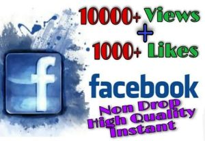 I will provide 10000+ Video Views and 1000+ Like on Facebook!! Fast and HQ!!