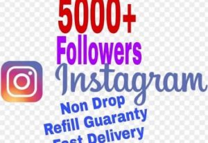 I will provide 5000+ Follower on Instagram!! Fast and HQ!!