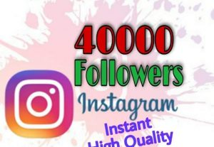 I will provide 40000+ Followers on Instagram!! Fast and HQ!!