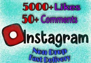 I will provide 5000+ Likes and 50+ Comments on Instagram!! Fast and HQ!!