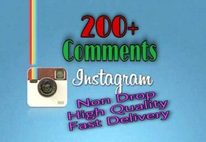 I will provide 200+ Comments on Instagram!! Fast and HQ!!