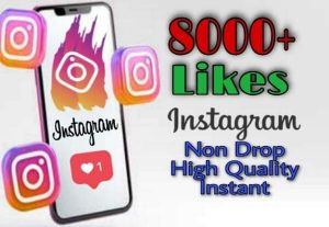 I will provide 8000+ Likes on Instagram!! Fast and HQ!!