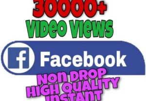 I will provide 30000+ Video Views on Facebook!! Fast and HQ!!