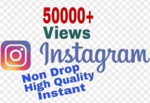 I will provide 50000+ Video Views on Instagram!! Fast and HQ!!