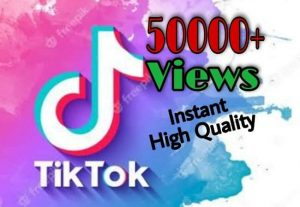 I will provide 50000+ Video Views on TikTok!! Fast and HQ!!