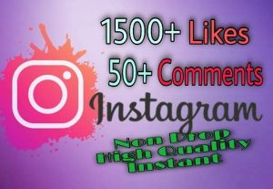 I will provide 1500+ Likes and 50+ Comments on Instagram!! Fast and HQ!!