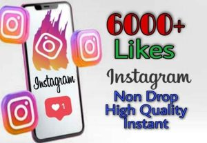 I will provide 6000+ Likes on Instagram!! Fast and HQ!!