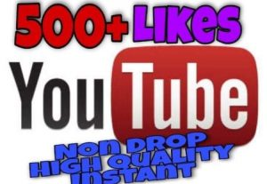 I will provide 500+ Likes on YouTube!! Fast and HQ!!