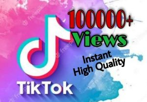 I will provide 100000+ Video Views on TikTok!! Fast and HQ!!