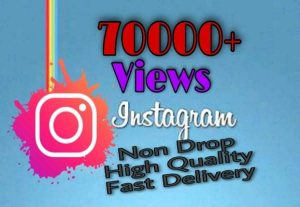 I will provide 70000+ Video Views on Instagram!! Fast and HQ!!