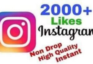 I will provide 2000+ Likes on Instagram!! Fast and HQ!!