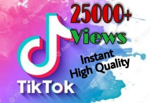 I will provide 25000+ Video Views on TikTok!! Fast and HQ!!