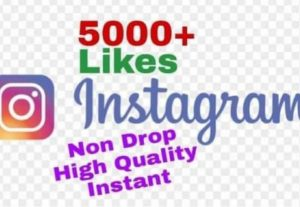 I will provide 5000+ Likes on Instagram!! Fast and HQ!!
