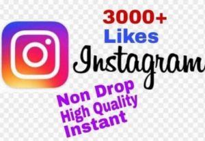I will provide 3000+ Likes on Instagram!! Fast and HQ!!