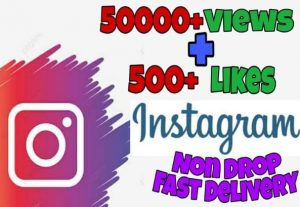 I will provide 50000+ Video Views and 500+ Likes on Instagram!! Fast and HQ!!