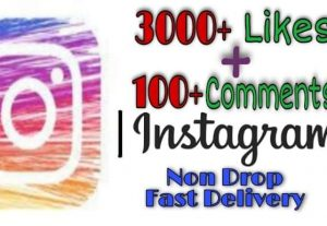 I will provide 3000+ Likes and 100+ Comments on Instagram!! Fast and HQ!!