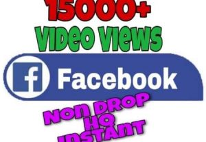 I will provide 15000+ Video Views on Facebook!! Fast and HQ!!