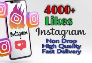 I will provide 4000+ Likes on Instagram!! Fast and HQ!!