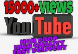 I will provide 15000+ Views on YouTube!! Fast and HQ!!