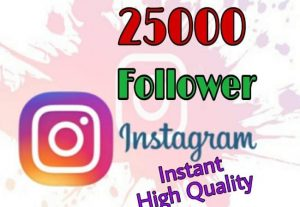 I will provide 25000+ Followers on Instagram!! Fast and HQ!