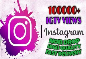 I will provide 100000+ IGTV Views on Instagram!! Fast and HQ!!