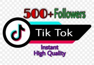 I will provide 500+ Followers on TikTok!! Fast and HQ!!