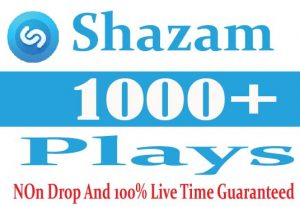 I Will Provide 1000+ Shazam plays Non Drop Active User Live Time Guaranteed
