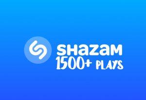I will send you 1500+ Shazam Plays instant