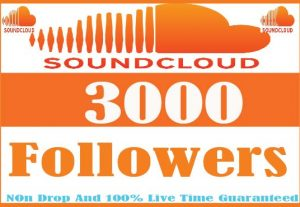 I Will Provide 3000+Soundcloud Followers Active User Non Drop And Live Time Guaranteed