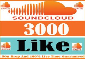 I Will Provide 3000+ Soundcloud Like Active User Non Drop And Live Time Guaranteed