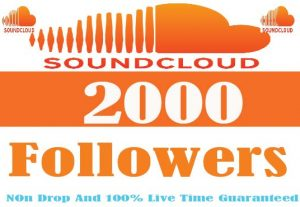 I Will Provide 2000+ Soundcloud Followers Non Drop Real Active User And Live Time Guaranteed