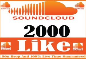 I Will Provide 2000+ Soundcloud Like Real Active User Non Drop And Live Time Guaranteed