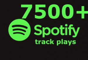 I will send you 7500+ spotify track plays ROYALTIES ELIGIBLE