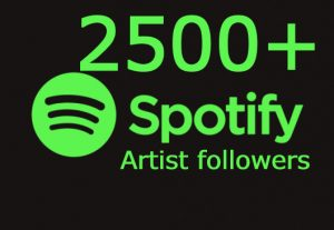 I will send you 2500+ spotify Artist followers