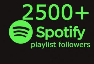 I will send you 2500+ spotify playlist followers