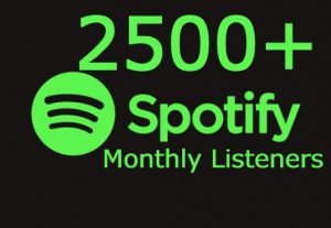 i will add you 2500+ Spotify Monthly Listeners