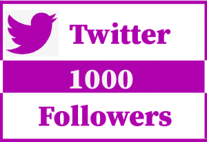 1000+ twitter followers,Best Quality,Non Drop and 100% Real