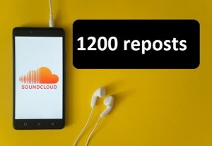 Give you 1200 repost on soundcloud organic