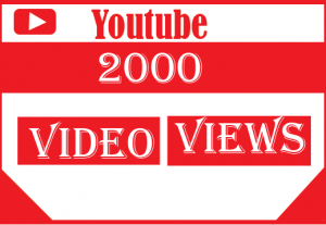 2000+ youtube views ,best quality and 100% real